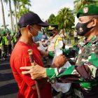 TNI-Polri Banyumas Bersama Elemen Masyarakat, Peduli Kesulitan Masyarakat di Tengah Pandemi Covid-19.